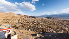 Leh Town - as seen from Shanti Stupa (ChetanRana) Tags: india mountains nature landscape heaven cityscape bluesky explore leh oldtown jk ladakh viewfromthetop mountainscape jammukashmir flickrexplore lehpalace bestlandscape incredibleindia shantistupa vantageview