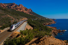 TGV  Anthor (Tirolix) Tags: summer france train frankreich meer mare cannes zug ctedazur duplex tgv sncf saintraphal antheor lyria
