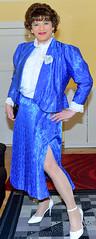 Birgit021816 (Birgit Bach) Tags: shiny skirt blouse suit satin pleated ruffled kostm glnzend faltenrock rschenbluse