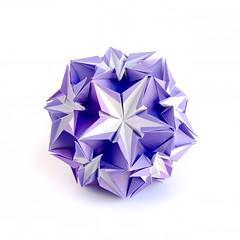 С днем рождения, Наташа! #kusudama #origami (_Ekaterina) Tags: paper origami violet paperfolding kami modularorigami kusudama unitorigami ekaterinalukasheva