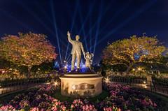 Disneyland: The Happiest Place (Jessie Chaisson) Tags: blue sleeping castle beauty jessie statue night mouse photography lights nikon disneyland disney mickey walt partners chaisson