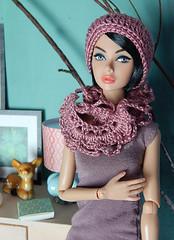 Tulip (Levitation_inc.) Tags: color cute fashion toys doll handmade ooak crochet caps barbie hats levitation poppy accessories crocheted sets parker accessory integrity nuface