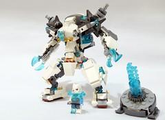 70223 - ice mech 01 (chubbybots) Tags: lego mech moc 70223