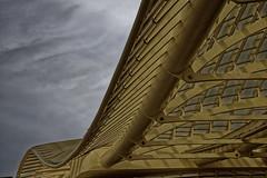 Ciel menaant sur la carapace (Vincent Marliac) Tags: paris architecture ciel halles courbes d810 canope