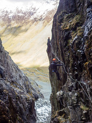 Honister_Via Ferrata (19 of 73) (Kevin John Hughes) Tags: bridge england lake snow mountains net landscape scary burma rope cargo climbing pike keswick buttermere honister dostrict fleetwith mountineering