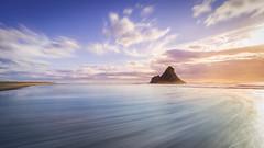 Whirlpool (sandflyphoto) Tags: longexposure sunset sea newzealand seascape beach clouds landscape evening twilight sundown dusk auckland nz sunrays tasmansea piha karekare karekarebeach panatahi aucklandwestcoast panatahiisland