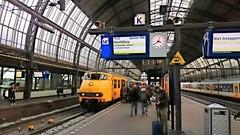 Wat Zien Ik ? (Peter ( phonepics only) Eijkman) Tags: city netherlands amsterdam train ns transport nederland rail railway trains rails railways trein noordholland spoorwegen treinen nederlandse nederlandsespoorwegen reflectionsofthepast