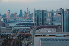 Odaiba daytime view (703) Tags: bridge japan tokyo 日本 tokyotower 東京 odaiba daytime minatoku 東京タワー rainbowbridge fujitelevision お台場 fujitv フジテレビ レインボーブリッジ daytimeview pentaxk5 da18135mm