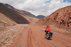 On mud we are sliding to Kirgistan (Michal Pawelczyk) Tags: road trip holiday bike bicycle june nikon asia flickr aim centralasia kyrgyzstan pamir gosia wakacje 2015 czerwiec kirgistan azja d80 pamirhighway azjasrodkowa azjacentralna