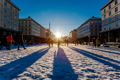Januar (kjelljoran) Tags: winter shadow sun sol norway norge vinter shadows january norwegen bergen hordaland januar torgallmenningen skygger