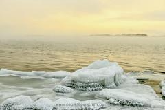 Winter seascape (Patrik Fagerstrm) Tags: winter sunset sea snow seascape ice nature suomi finland helsinki arctic meri lauttasaari seasmoke luonto natureart