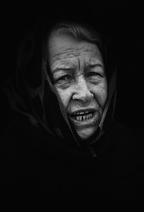 003-365-2016 (dagomir.oniwenko1) Tags: street portrait people blackandwhite bw blackbackground female portraits canon person retrato candid sigma style oldwoman portret wrinkles ritratto humans canoneos7d sigmadc1750
