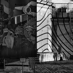 La Villette (Zwitt Erion) Tags: street paris france ledefrance fuji fujifilm streetphoto iledefrance parc lavillette villette x20 graphisme graphique 19me