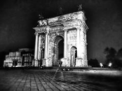 Arco della Pace (ValerioPh) Tags: parco canon italia monumento milano monuments sempione arcodellapace blackandwithe canon1200d