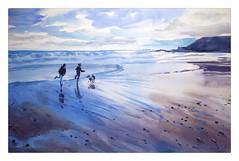 Ballymoney mirror (katekos) Tags: sea sky seascape beach wet water watercolor landscape mirror sand watercolour wexford ballymoney courtown krajobraz pejzaz akwarela katekos