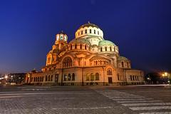 Happy Orthodox Christmas (hapulcu) Tags: cathedral sofia dusk bulgaria bluehour bulgarie bulgarien bulgaristan