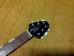 Vintage work in progress (3)os 1000 (Lox Pix) Tags: lox loxpix guitar collection bass mandolin fender gibson yamaha ibanez rickenbacker vintage beatle violin shape kent sleekline bowhunter trump squier stratocaster telecaster hofner loxwerx l0xpix
