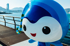 DSCF6366 (koribrus) Tags: blue boy hotel fuji expo cartoon korea mascot boardwalk fujifilm yeosu jeollanamdo x100s