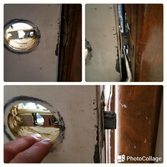 Open door , latch was broken ! Locksmith Lancaster NY.  #locksmithlancasterny #broken #latch #opendoor  Www.locksmith-lancaster-ny.com (locksmithbuffalony1) Tags: broken latch opendoor locksmithlancasterny
