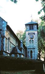 St Pancras Old Church (2) (Matthew Huntbach) Tags: london stpancras nw1 pancrasroad somerstown stpancrasoldchurch halinamw35
