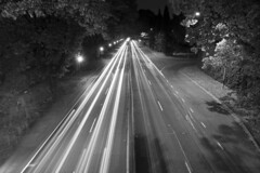 99E (Curtis Gregory Perry) Tags: portland oregon night highway 99e mcloughlin boulevard street road light stream trails traffic cars black white bw bybee overpass nikon d800e usa unitedstates america united states natë gau ноч нощ nit noc nat νύχτα notte nakts naktis noite lejl natt ночь éjszaka נאַכט रात 夜 夜晚 đêm gece nag usiku dare bosiu gabii gabi wengi alina malam po automóvil coche carro vehículo مركبة veículo fahrzeug automobil