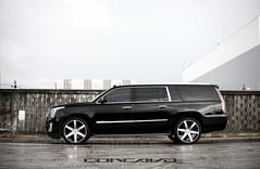 "Cadillac Escalade ESV on 24"" CW-6 Matte Black Machined Face (Concavo Wheels) Tags: usa truck florida miami wheels cadillac rims suv luxury concave escalade esv concavo cw6 deepconcave concavowheels teamconcavo concavenation"