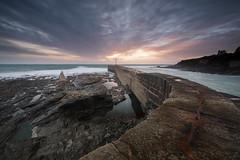 Porthleven (T_J_P) Tags: ocean light sunset sea colour clouds pier rocks cornwall breakwater porthleven