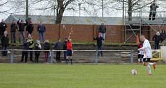 The Bankies faithful are not amused that Mark Burbidge has been flagged offside (Stevie Doogan) Tags: park west scotland scottish first super juniors division league holm clydebank bole maybole bankies mcbookiecom