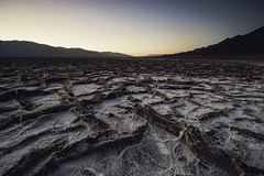 Gorgeous shot of Badwater Basin in Death Valley, the lowest point in North America (Daniel Vie fotografia) Tags: california park blue sea sky usa white lake hot nature america landscape death view desert flat salt scenic dry surface basin national valley pan desolate arid cracked badwater badwaterbasin saltpan deathvalleynationalpark