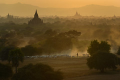 The Ancient City of Bagan, Myanmar (SaravutWhanset) Tags: mist asian thailand ancient asia outdoor burma buddhist traditional culture structures tourists myanmar plain polite bagan exploer inexploer jouner