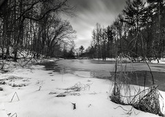 It's way too early for spring. (jaros 2(Ron)) Tags: winter ontario canada ice water mono pond lightroom superwide benro tokina111628 nikond300s