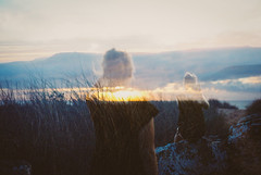Tethered (Louis Dazy) Tags: girls sunset nature analog sunrise 35mm exposure grain australia grampians double wanderlust wander
