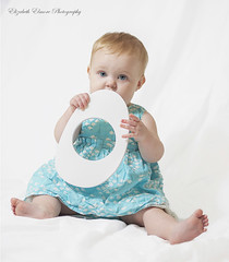1074 (Elizabeth Elmore Photography) Tags: birthday blue portrait baby girl portraits photography dress little o southcarolina first letter photogarpher