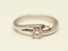 スペサタイトガーネットをセットしたエンゲージリング   Spessartite Garnet Engagement Ring (jewelrycraft.kokura) Tags: garnet spessartine spessartite ガーネット スペサタイト スペサルティン