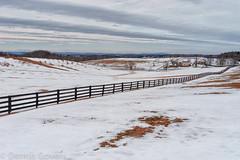 Winter Pastoral Scene (dngovoni) Tags: winter snow mountains farmhouse fence landscape pond farm