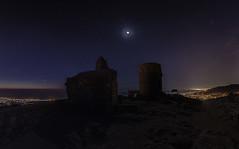 Castell de Burriac (qfwfq78) Tags: castle ruins nightscape planets apod castell burriac