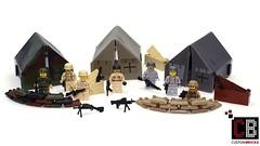 LEGO Custom CB Zelt Minifigur Waffe Brickarms Minifig Cat 02 (LA-Design2012) Tags: army us force lego wwii tent special german ww2 afrika minifig custom zelt sandbags deutsche bundeswehr moc wehrmacht sandscke afrikakorps soldate custombricks