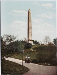 A photochrom postcard by the Detroit Photographic Company depicting Cleopatra's Needle in New York (Historystack) Tags: sculpture newyork unitedstates centralpark obelisks historyofegypt egyptianobelisks