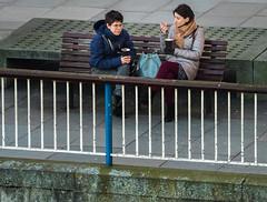 Southbank Conversation (Olympus OMD EM5II & mZuiko 40-150mm F2.8 Pro Zoom) (markdbaynham) Tags: uk urban london zoom capital evil olympus gb pro metropolis f28 omd csc oly mz londoner londonist m43 zd mft 40150mm em5 mirrorless micro43 microfourthirds micro43rd mzuiko m43rd em5ii zuikolic