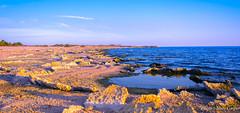Afterglow (MarcCooper_1950) Tags: california blue sunset sky orange lake seascape water yellow crust landscape ir coast nikon glow sundown salt shore coachella hdr goldenhour saltonsea outfoors d810 d7100 marccooper