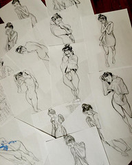 Quick studies in search of the right pose. (Dorian Vallejo) Tags: art painting mixed media drawing fine drawings figure oil vallejo dorian