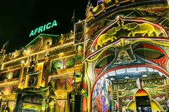 Africa ! (Johannes R.) Tags: africa light food house color colour night facade canon mouth dark painting lights colorful dubai village market united uae entrance illumination tourist tourists illuminated emirates exotic stm arabian 1855 efs entry attraction global 70d