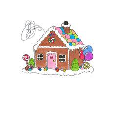 Gingerbread House (Hobbycorner) Tags: christmas art gingerbread crayola candyland