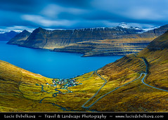 Faroe Islands - Island of Eysturoy - Funningur ( Lucie Debelkova / www.luciedebelkova.com) Tags: travel light panorama mountain tourism nature water beautiful landscape denmark outdoors dawn scenery europe mood view lumire awesome scenic atmosphere stormy paisaje beaut danish stunning vista remote serene nordic scandinavia paysage exploration landschaft danmark faroeislands breathtaking paesaggio scandinavian evropa northerneurope magiclight faroes froyar dramaticlight frerne nordiccountry faroese kingdomofdenmark kongerigetdanmark luciedebelkova wwwluciedebelkovacom scandinavianregion