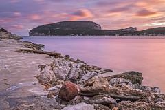 Alghero. Sardegna (Francesca Zinchiri) Tags: sardegna sunset sea canon landscape long exposure alghero 6d seaset