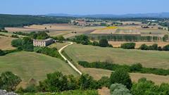 Paysage depuis Monteriggioni (CpaKmoi) Tags: italia fortification toscana toscane monteriggioni italie muraille