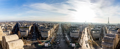 Pano from Paris (Arthur Castro) Tags: panorama paris france canon eiffeltower frana panoramic torreeiffel arcdetriomphe champslyses 2470mm canoneos6d canonef2470mmf28liiusm