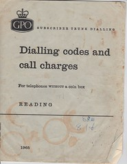 Reading STD code book 1965 (sunbeam31) Tags: heritage reading book office code post trunk british std legacy bt gpo telecom telephones 1965 subscriber codes dialling