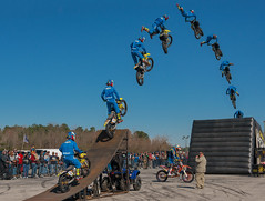 """""""Cowboy"""" Kenny Bartram's Steel Rodeo Freestyle Motocross Exhibition [Composite Image]"""