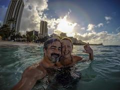 Sharks, what sharks? (chrisread4) Tags: sea beach swimming hawaii pacific waikiki oahu gopro gopro4black